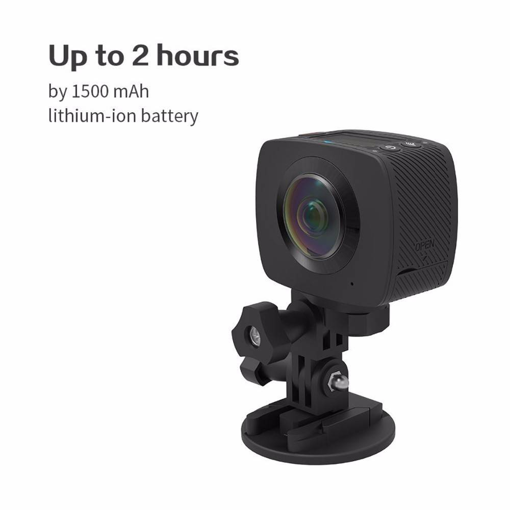 Most Popular Dual lens Wireless 360 Degree Panoramic Camera 3D VR Action Sports Camera Wifi Extreme