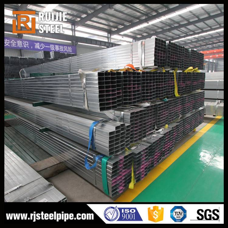 Pre galvanized ERW rectangular steel tube