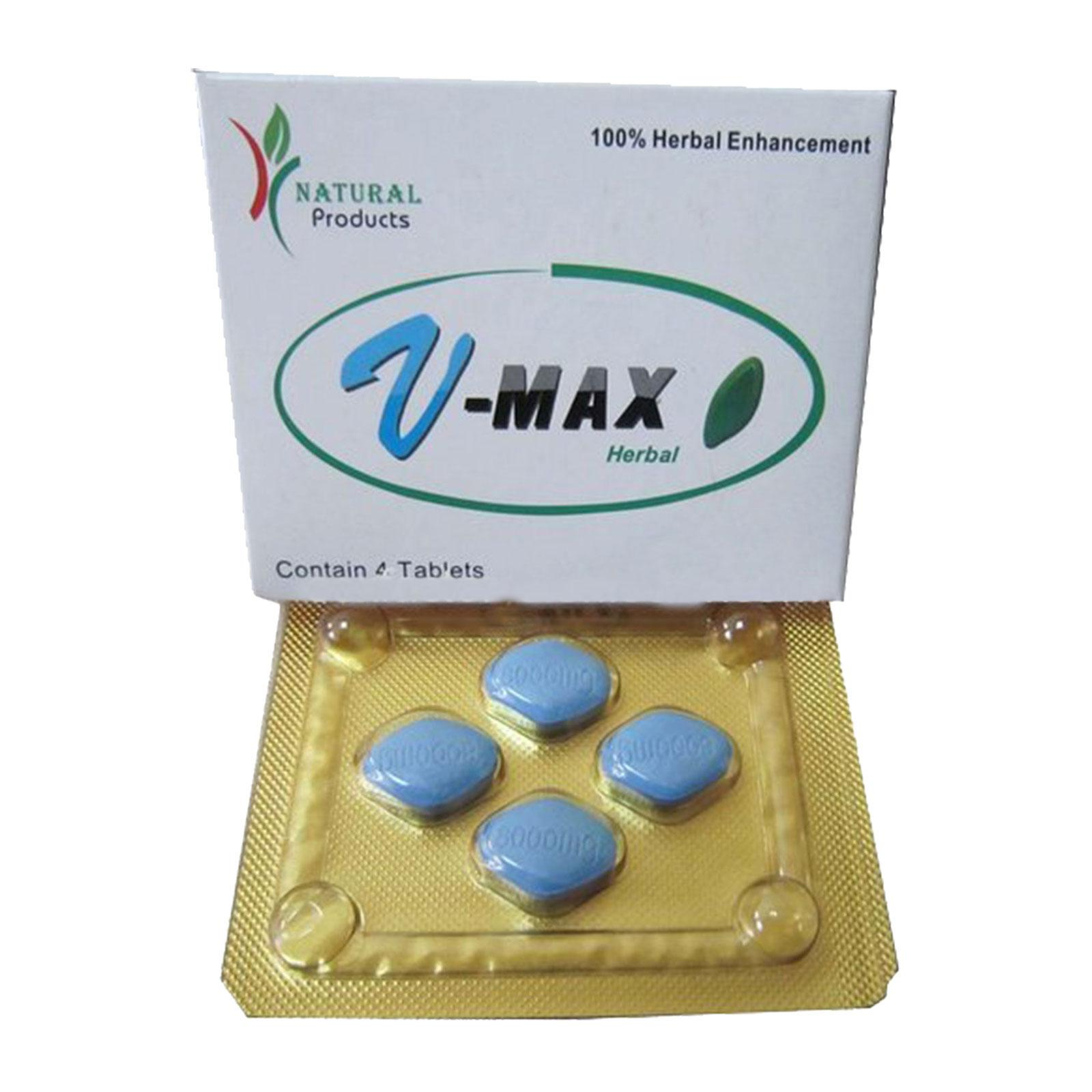 Factory Price 100% Herbal Enhancement V-Max Herbal Blue Sex Pills 8000mg For Sale