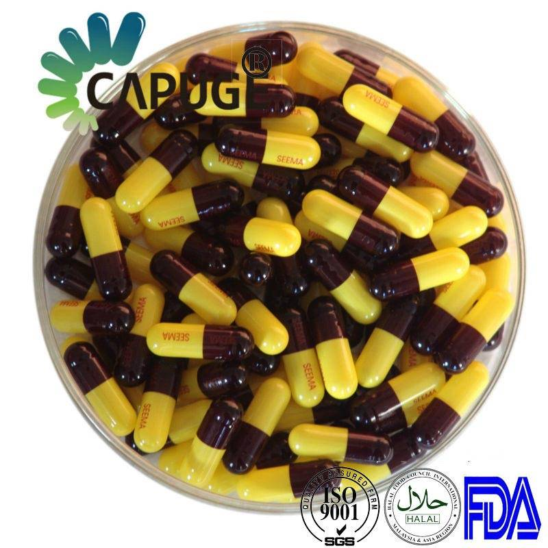 Pharmaceutical Bulk Hard Gelatin Capsule Shells Colored Print