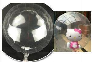 Big 36 inch 90cm Round Shape Clear & Bubble Balloons
