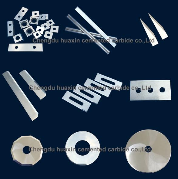 Tungsten carbide industrial blades