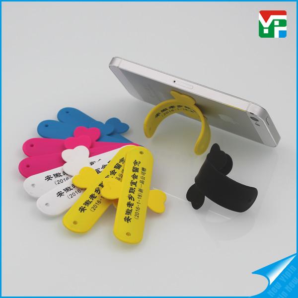 OEM advertised soft PVC printing phone holder
