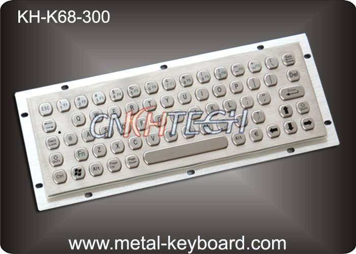 KH-K68-300 Stainless Steel Metal Kiosk Industrial Computer Keyboard with IP65 Water Resistant