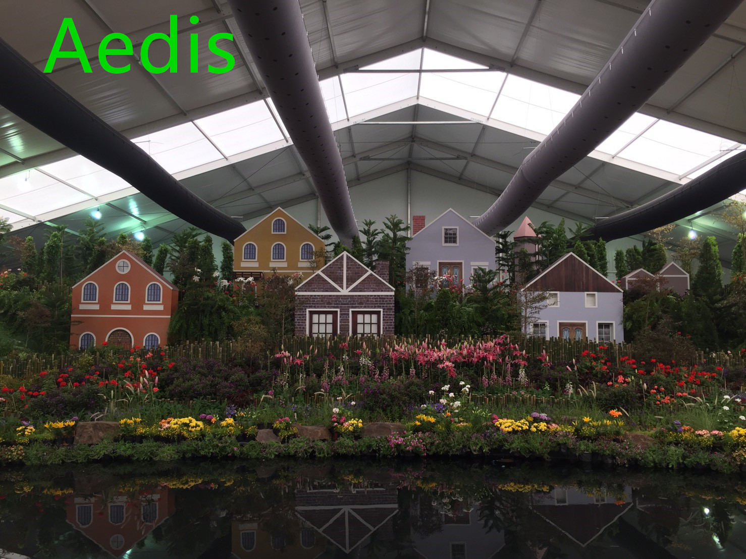 China HVAC fabric/textile duct application in green house