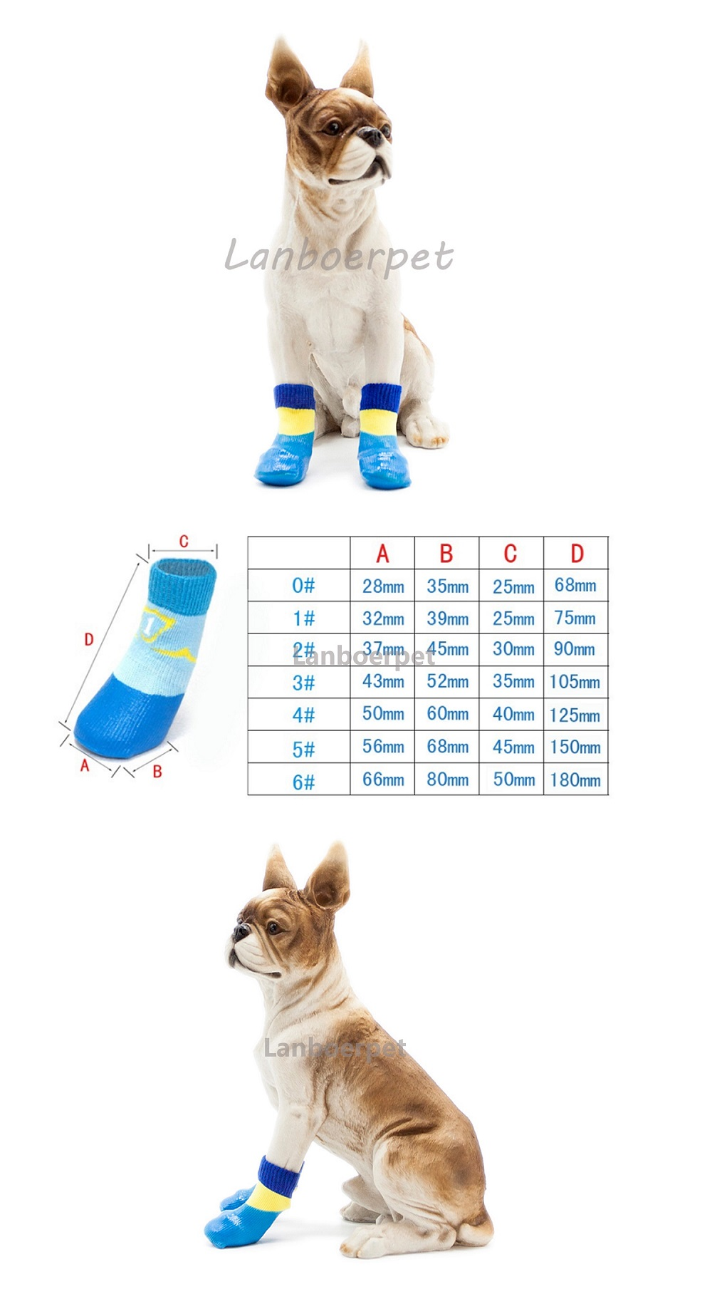 Waterproof Cute Cotton Pet Socks Dog Socks