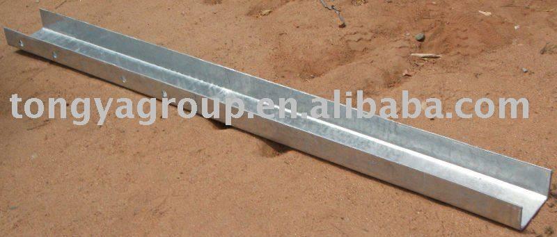 highway guardrail U post w beam