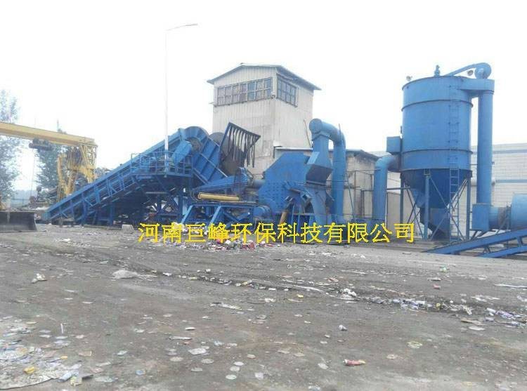 Waste household appliance recycling equipment