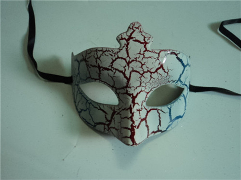 Halloween Venetian Masquerade Christmas Half Face Crack Pattern Mask