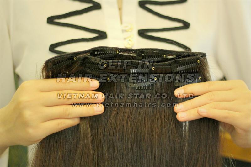 Full Head Set Clip-in Hair Extensions