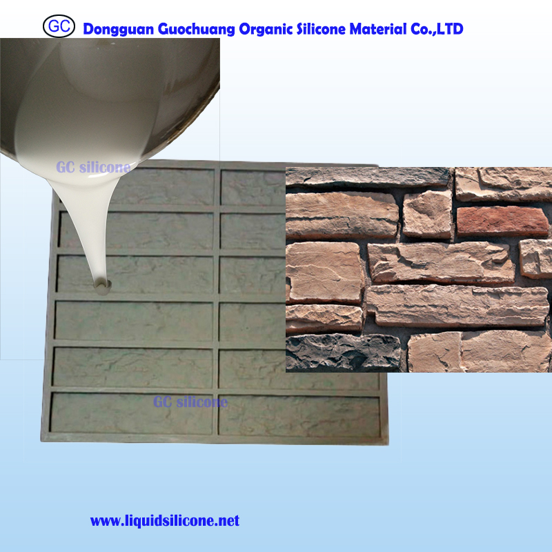 Tin cure rtv2 silicone rubber molding material for ornamental brick