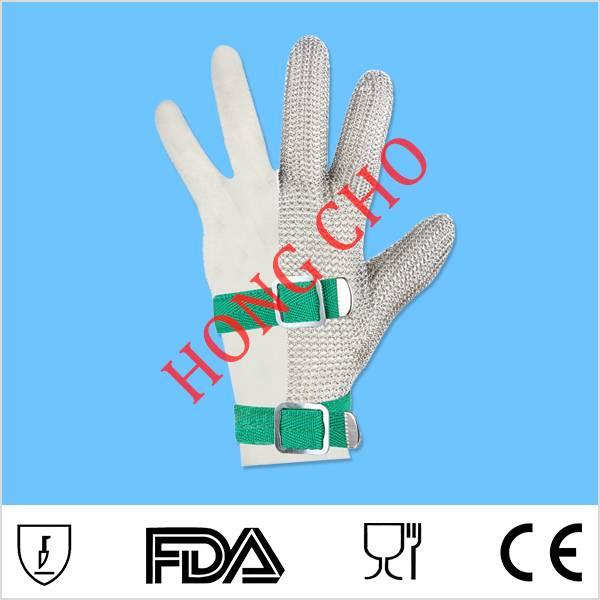 Three fingers Butcher Anti-Cut Safety Chain Mesh Glove