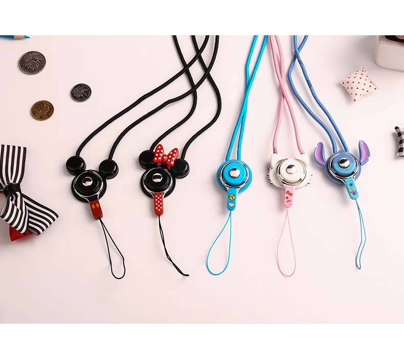 wholesale micky mouse neck strap for phone case