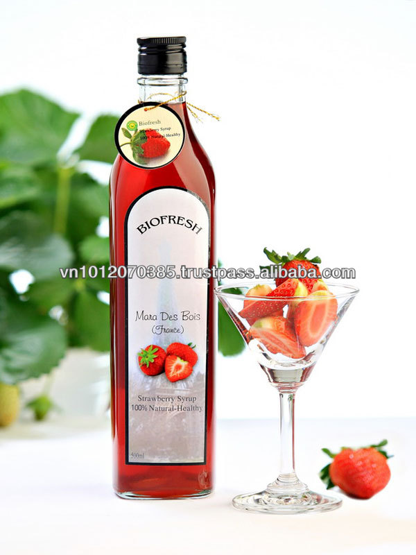 VIETNAM 100% NATURAL-HEALTHY STRAWBERRY SIRUP 500ML FMCG products