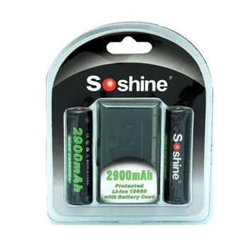 Soshine 18650 Li-ion 2900mAh 3.7V Protected Battery