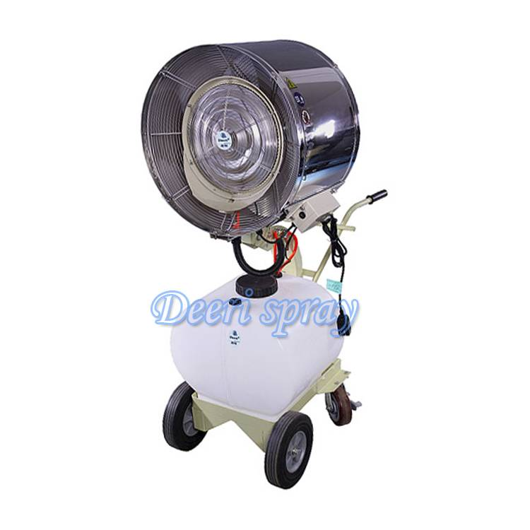 Deeri High quality Non-oscillating standing misting water spray blower with handle