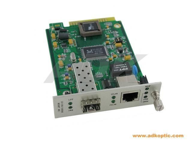 Multimode WDM&SFP media converter (card)