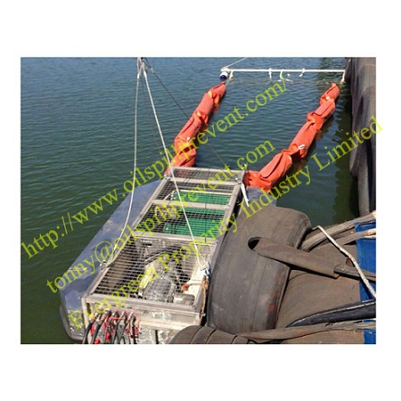 INCLINED BELT OIL SKIMMER PVC floating boom from Evergreen Properity in Chinese (Qingdao Singreat)
