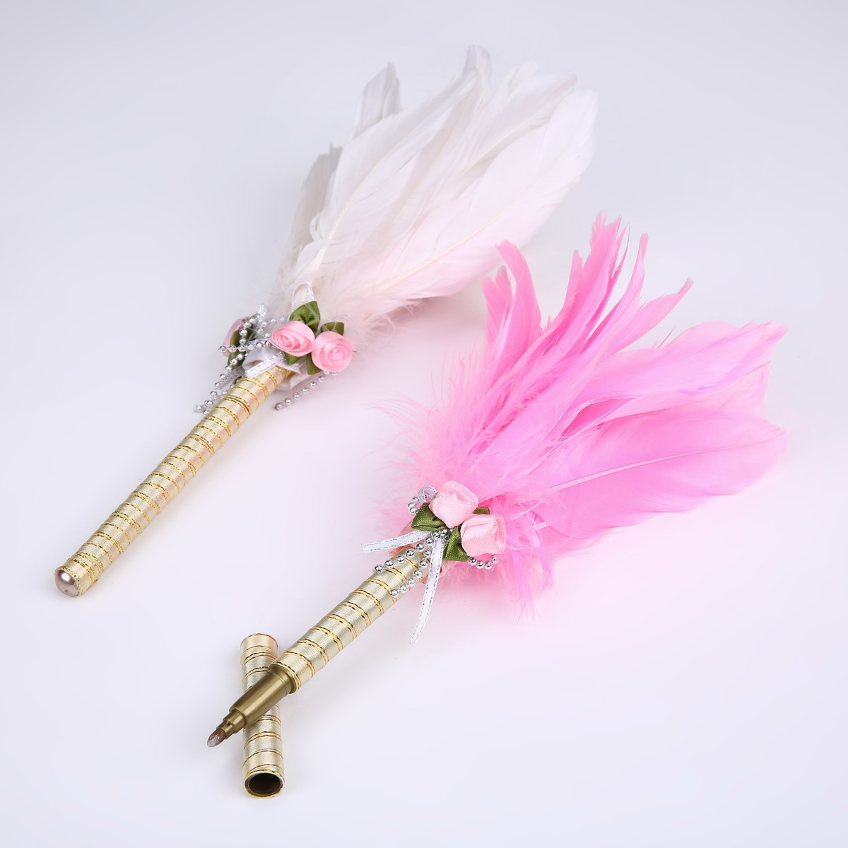 Creative pink feathers ball pen with elegance design for wedding gift /Promotion Advertisement Gift