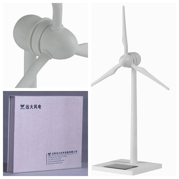 White primary color Solar Powered Small Plastic Windmill