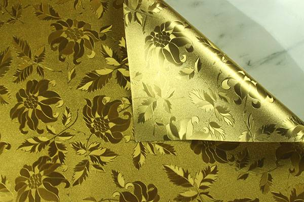 PVC Hot sales patterns leading 2015 trends Metal-Golden Table Mat