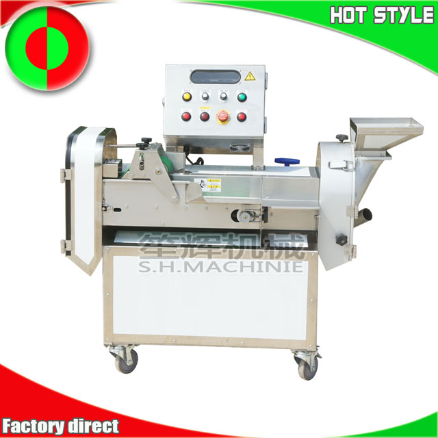 Multifunctional double head root and leaf vegetable cutting machine