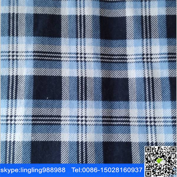 stocklot cotton yarn dyed flannel fabric check design