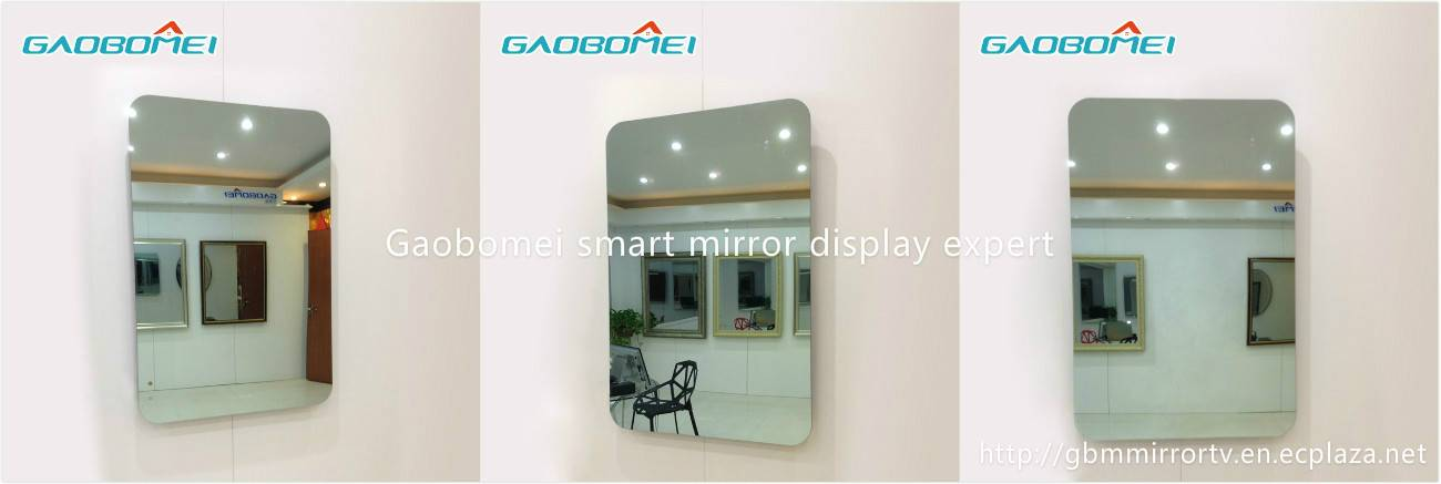 "Gaobomei 32"" AD Smart Mirror lcd media player mirror with ad management software/wifi"