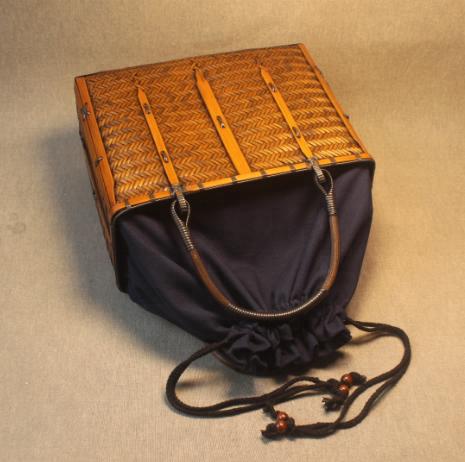 Hand Made Bamboo Bag Japan Tote Style Bamboo Woven Bag Rattan Beach Bag