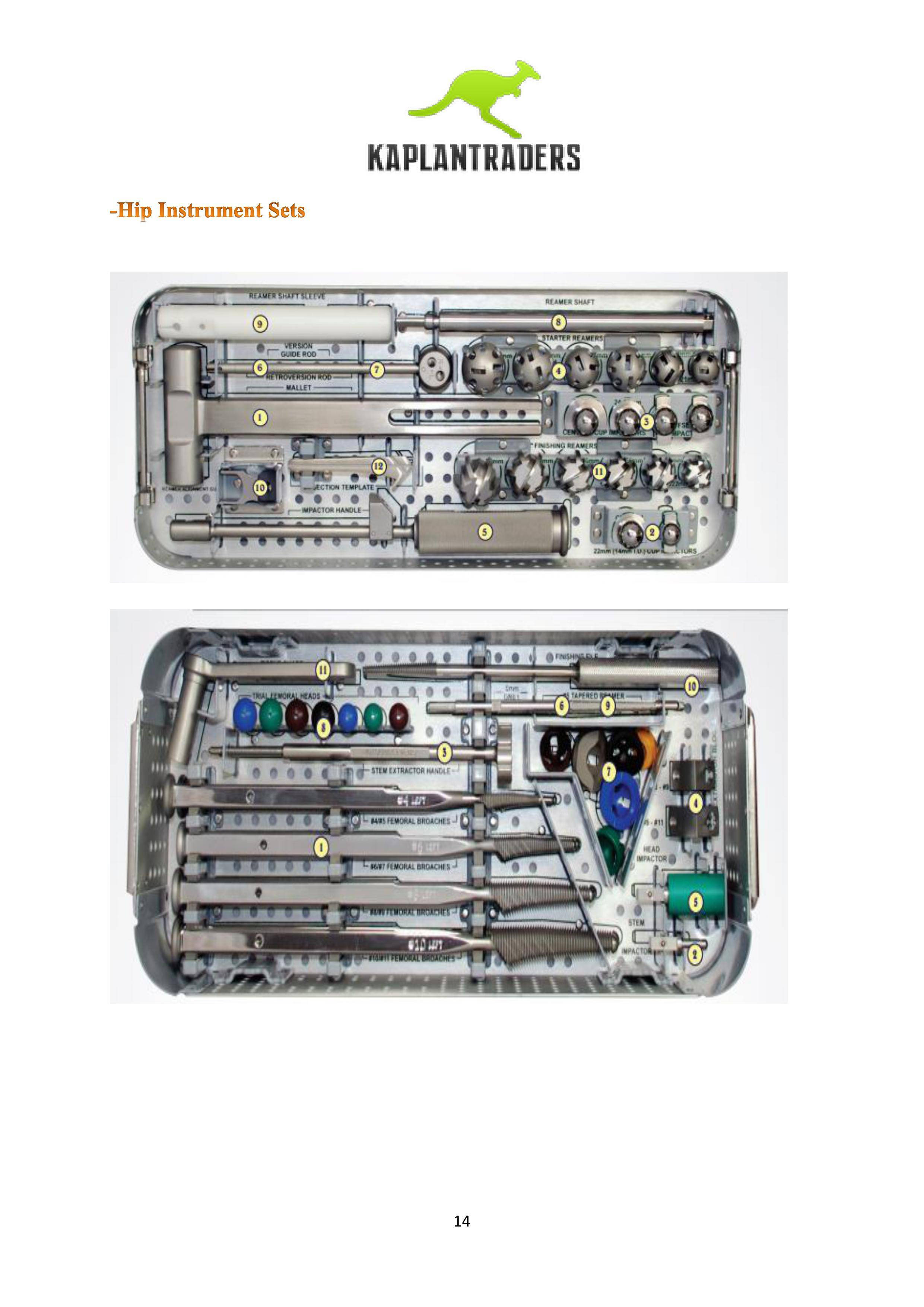 Hip Hand Instrument Set