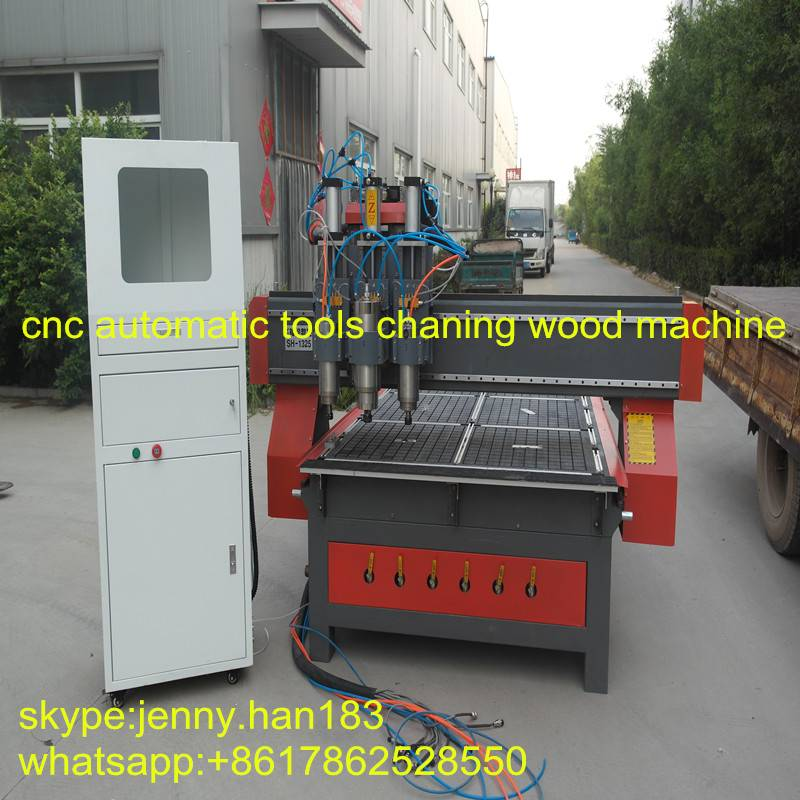 wood cnc router with automatic tool change machine