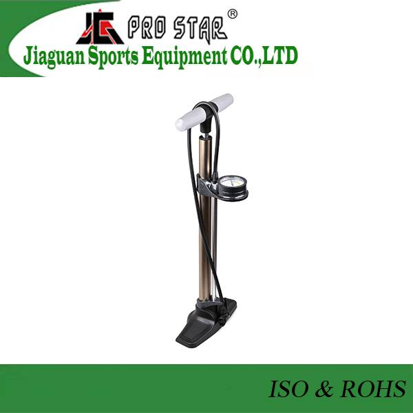 High-end Aluminum 6063 Bike Floor Pump with accurate pressure gauge