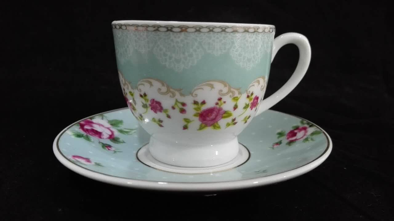 China Factory Wholesale Hot Sale Porcelain Cup & Saucer