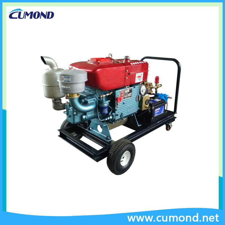 Mobile diesel cold water cleaning machine