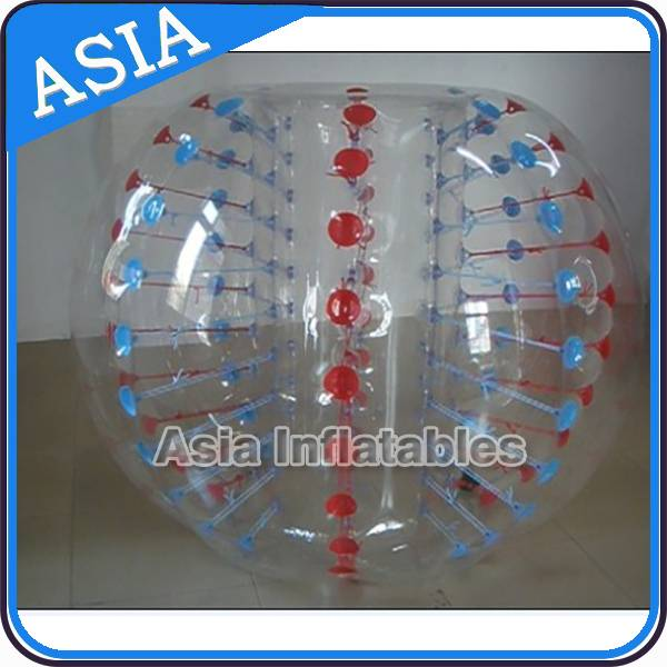 Blue and Red Dots Inflatable Bumper Balls for Sale Details