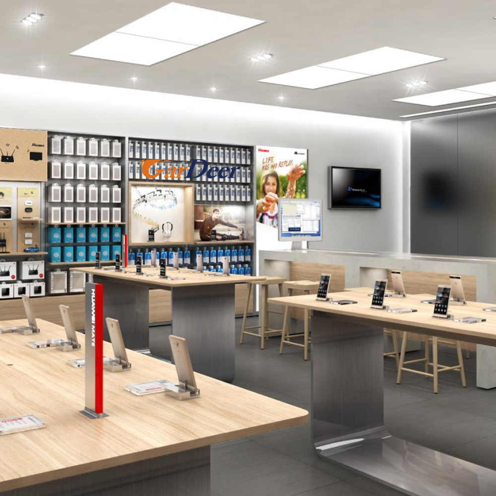 2017 popular professional huawei honor cell phone store interior design for display experience