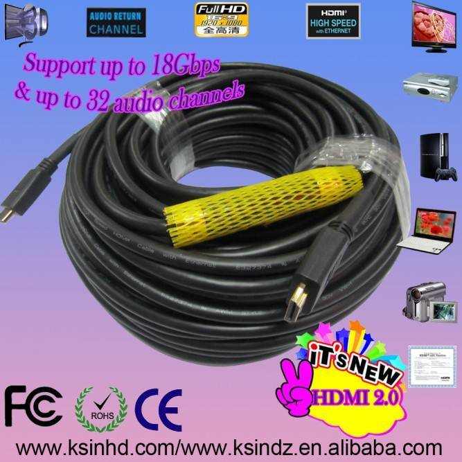 30m with 24k gold plated connectors 19pin male to 19pin male 1.4version 1080p for ethernet HDTV 3D.