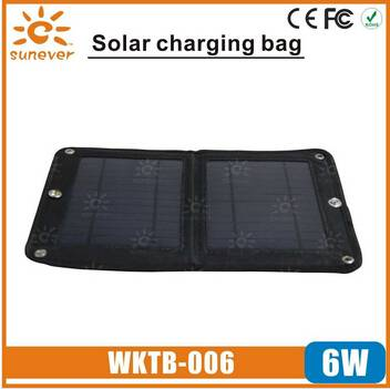 6W Portable Universal Folding Solar Battery Charger for Mobile phones for camping hiking traveling
