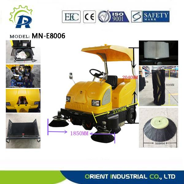 Electric driving type sweeping machine