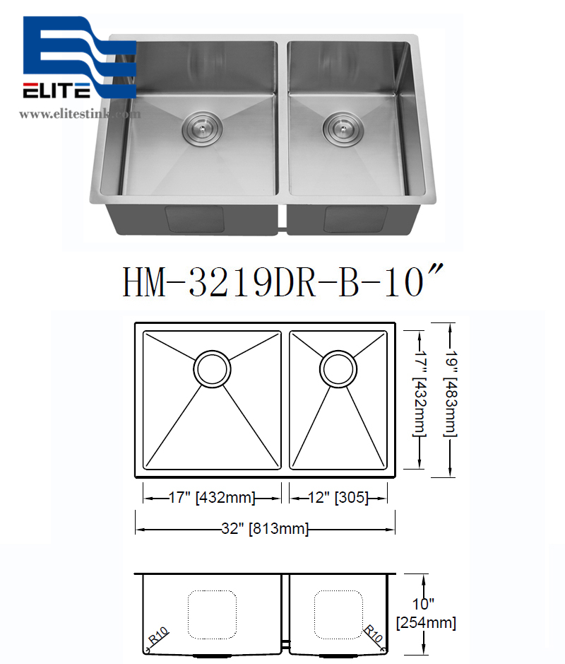 60 / 40 Stainless Steel Undermount Sinks for sale