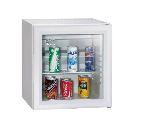 Customized Glass Door White Beverage Wine Cooler Mini Fridge Transparent Door