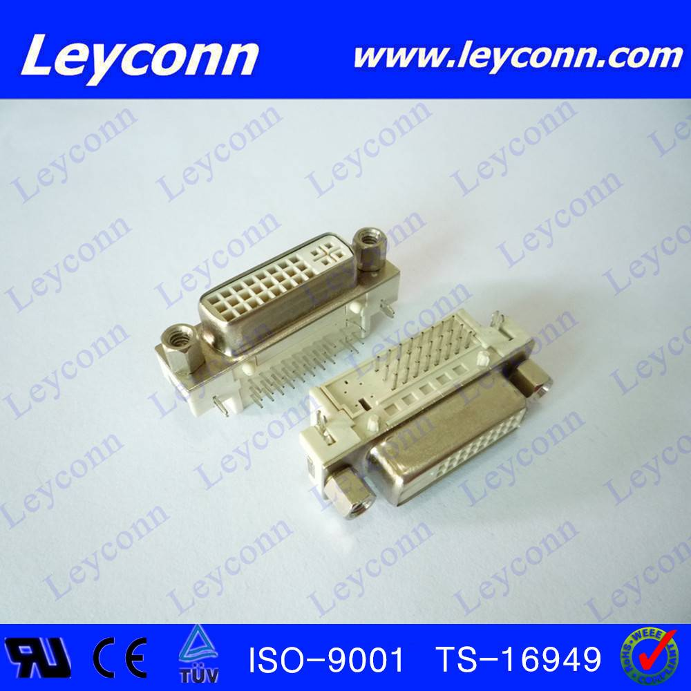 Right Angle DVI Female D-SUB  Connector