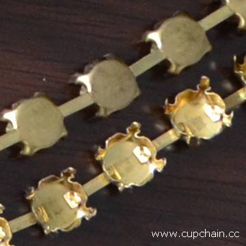 Hand made cup chain, flower cup chain,empty round cup chain,Fusenby, pearl chain
