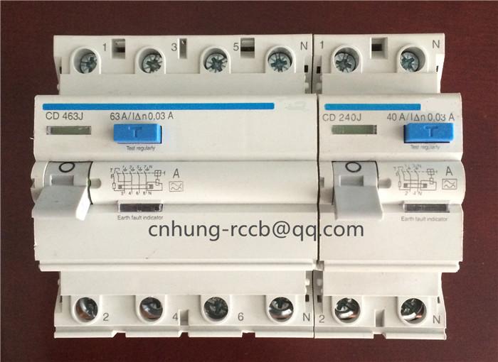 Hager type RCCB magnetic residual current circuit breaker