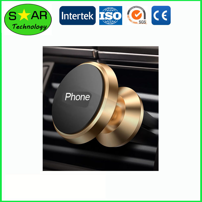 Vehicle Magnet Phone Holder On Air Vent