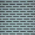 Perforated slotted hole metal