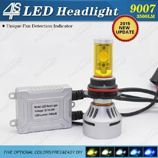 4S 3500LM 9007 LED Headlight Bulb Conversion Kit DC12-24V with CE,RoHS