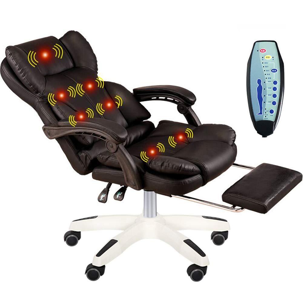 MAMASAM Office Massage Chair Computer Chair 7 Point Massage Adjustable Height Telescopic Footrest Er