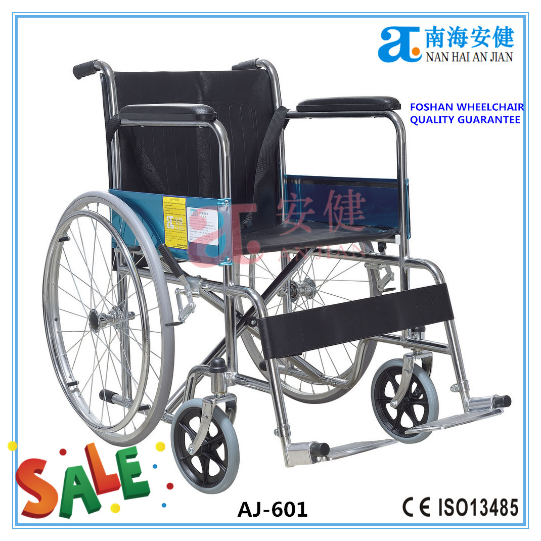 AJ-601 standard steel economic cheap wheelchair