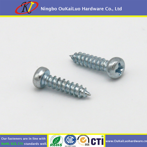 Phillips pan head sheet metal screws